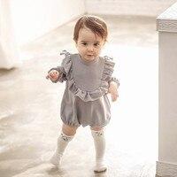 Одежда с длинным рукавом Детские Боди Одежда для маленьких мальчиков Модная Одежда для маленьких девочек ясельного возраста костюм для под