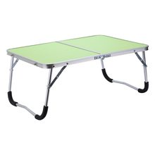 Multifunctional Foldable Warehouse Shelf Table Picnic Table Dormitory Bed Notebook Desk Laptop Bed Tray- Green(China)
