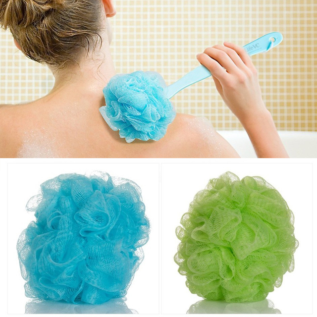 Soft Body Bubbles Ball Bath Flower Nylon Scrubber Loofah Shower Sponge For  Body Cleaning Back Straps