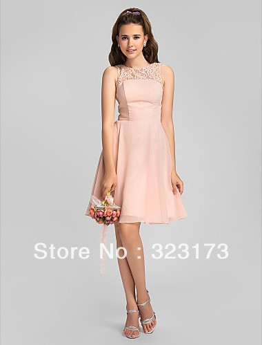 pink a line dress - Dress Yp