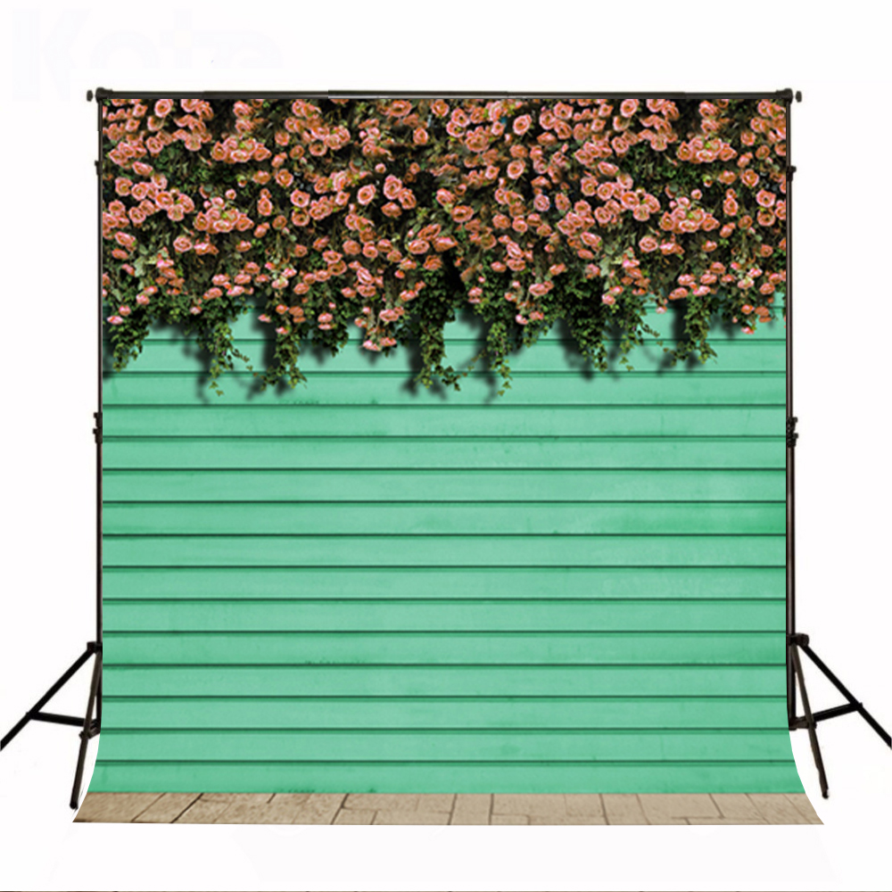 Wedding Photography Background Pink Flower Wall Photo Booth Backdrops Ground Brick Wedding Background for Photographic Studio dark brown brick wall with white clock photography backdrops wedding background 200x300cm photo studio props fotografia