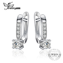 JewelryPalace 1ct Clip Earrings 925 Sterling Silver Wedding Anniversary Jewelry For Women Fashion Party Gift