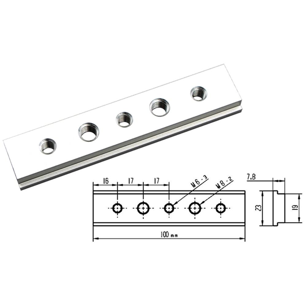100mm T Track Slot Sliding Slab Slide Block For T-slot T-track Woodworking Tool