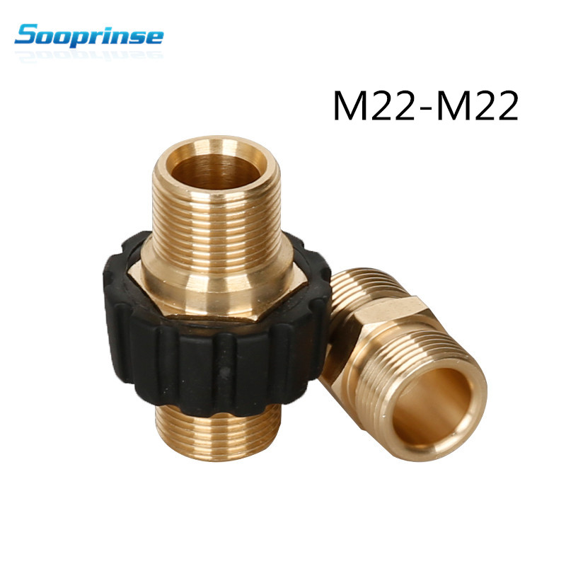 Sooprinse high Pressure Washer Hose Quick Connector, M22 Metric Male Thread Fitting,tornador car accessories Garden Hose Fitting-in Water Gun & Snow Foam Lance from Automobiles & Motorcycles