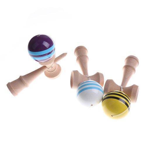Tradicional hábil malabares de madera juego de bolas de madera Kendama coordinar bola Bilboquet habilidad juguetes educativos regalo japonés