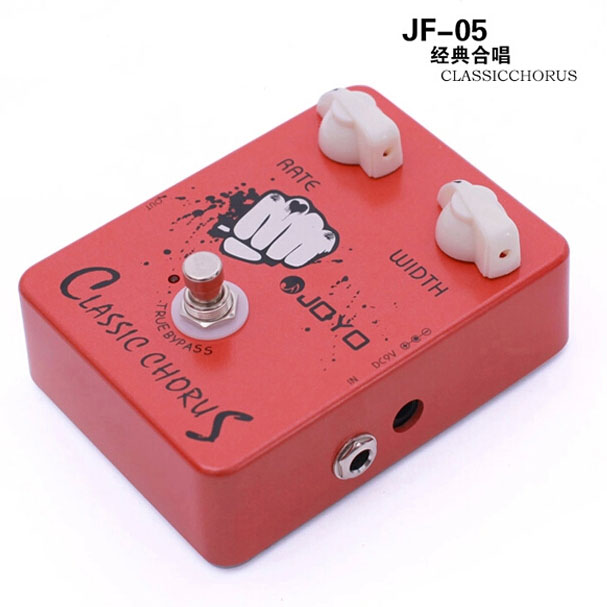 JOYO JF-05 Electric Guitar Effect Pedal Classic Chorus True Bypass Design free shipping free effect  power supply joyo jf 37 guitar effect pedal analog chorus electric true bypass guitar audio pedal box musical instrument accessories