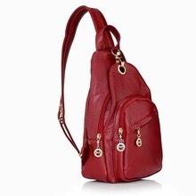 Mochila feminina de couro genuíno, de alta qualidade, bolsa feminina para escola, viagem saco do saco