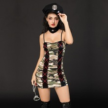 Police camouflage clothes. European and American sexy underwear. Uniform temptation. Adult nightclub costumes. Sexy lingerie.