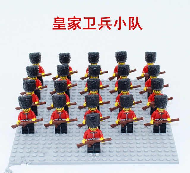 21 pçs figura da marinha compatível legoe leal guarda imperial soldado militar blocos de construção tijolo caribe pirata brinquedos educativos