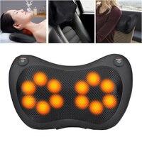 12/8/6/4 Heads Car Back Neck Massager Shiatsu Massage Pillow Cushion Home Waist Body Electric Massager Relaxation Pillow
