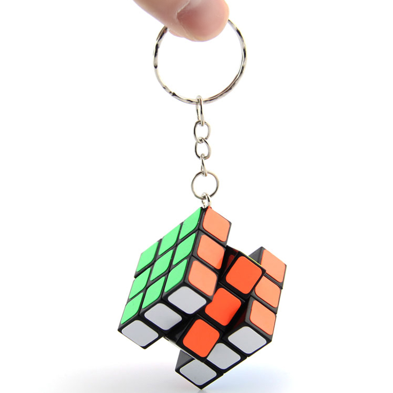 Z-Cube Key Chain Mini 3x3 Magic Cube Creative Cube Hang Decorations - Colorful Toy For Kids Cubo Magico Toys