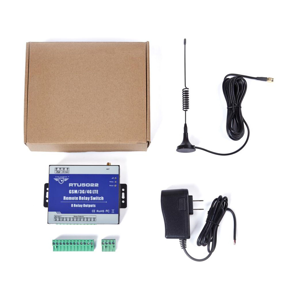 GSM Switch 3G 4G Remote Switches SMS Controller with 8 Relay Output Supports SMS APP Timer and Web Server Setting RTU5022 - 6