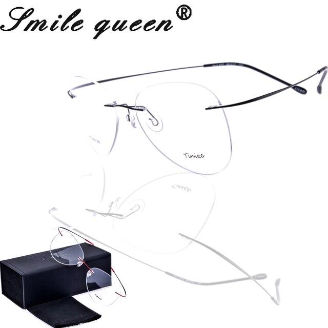 С оригинальной упаковке 2016 Tinize памяти чистого титана полуободковые оптических стекол кадров титановые очки без оправы кадров