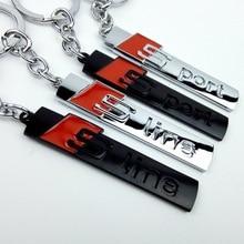 Fashion S line S sport car logo key ring chain keychain keyring for audi A4 A6 Q3 Q5 Q7 R8 TT chaveiro llavero key car-styling