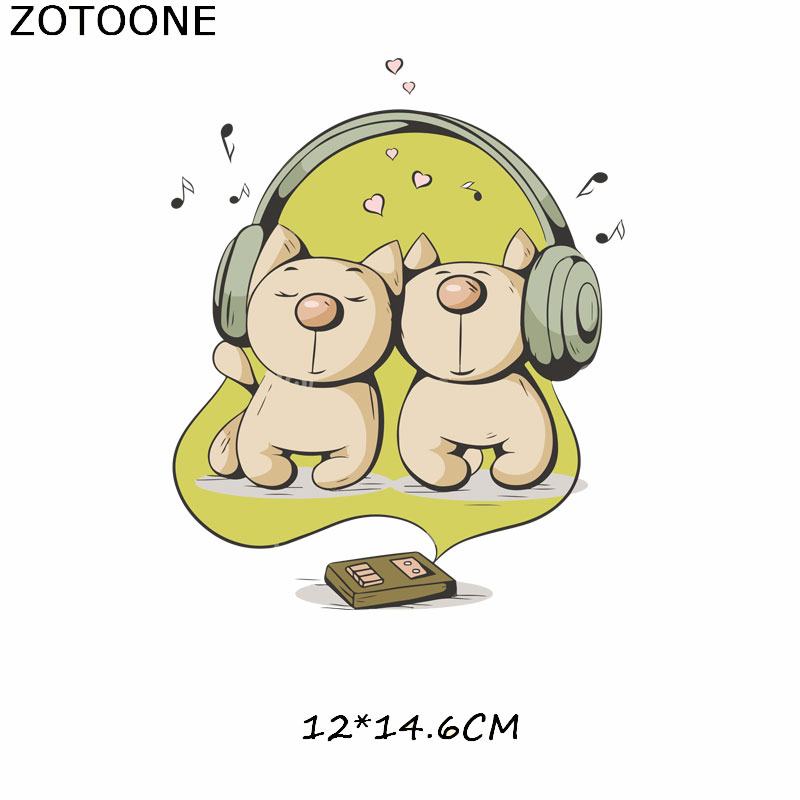 ZOTOONE Cute Animal Unicorn Patches for Clothing Dog Iron on Transfer DIY Stickers Children Bag Clothes Decoration Kids Gift E in Patches from Home Garden