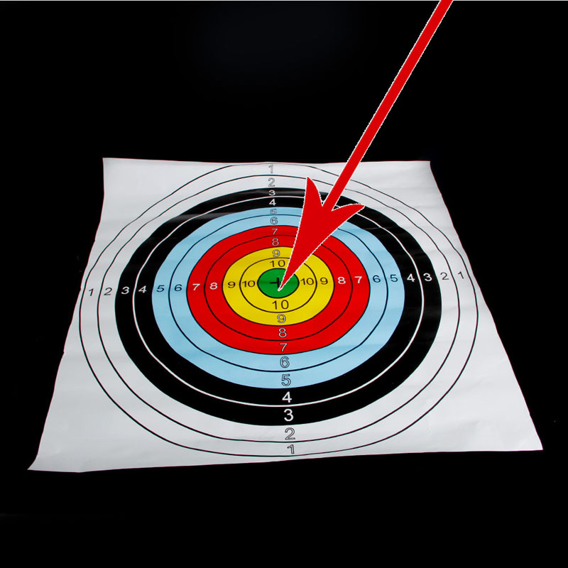 Tiro papel Cara target archery Tiro objetivo partice papel 40x40 cm ...