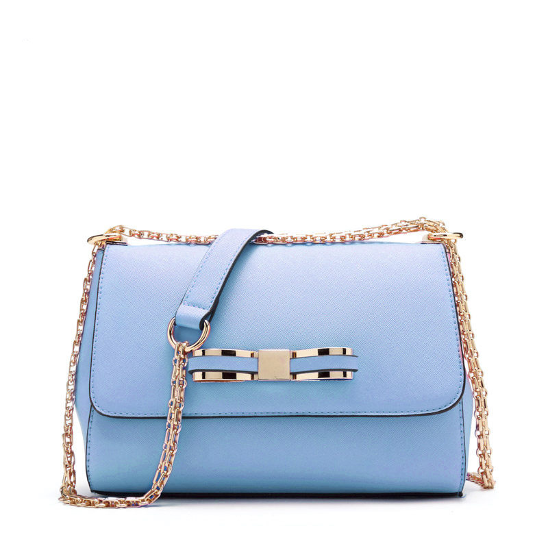 Trendy Small Bag Women Bowknot Chic Chain Bag Designer Cheap Shoulder Bag Classy Fashion Ladylike PU