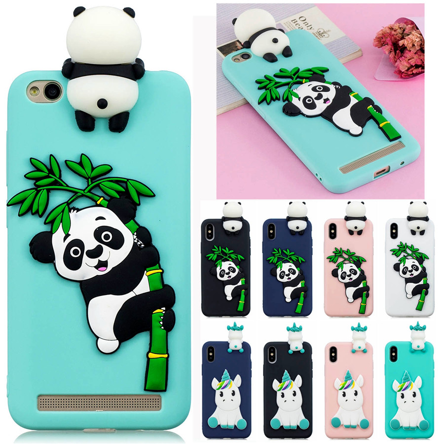 Redmi Note 5A Fundas on Xiaomi Redmi Note 5A Prime Case for Redmi Note5A Cover Soft Panda Unicorn Handmade Cartoon Phone Cases