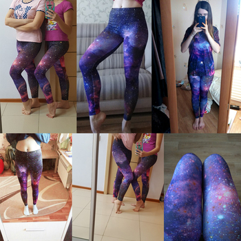 KYKU Brand New 3D Print Galaxy Leggings Fitness Legins Gothic Fashion Slim Sexy Leggins Women Leggings Push Up Woman Pants Sexy 6