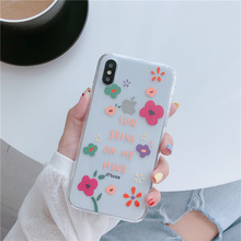 Pretty red flowers clear TPU case for iphone7 plus 8 xs max transparent summer floral cute fundas for iphone 6 6s 7 8 plus coque sandn red iphone7 47inch