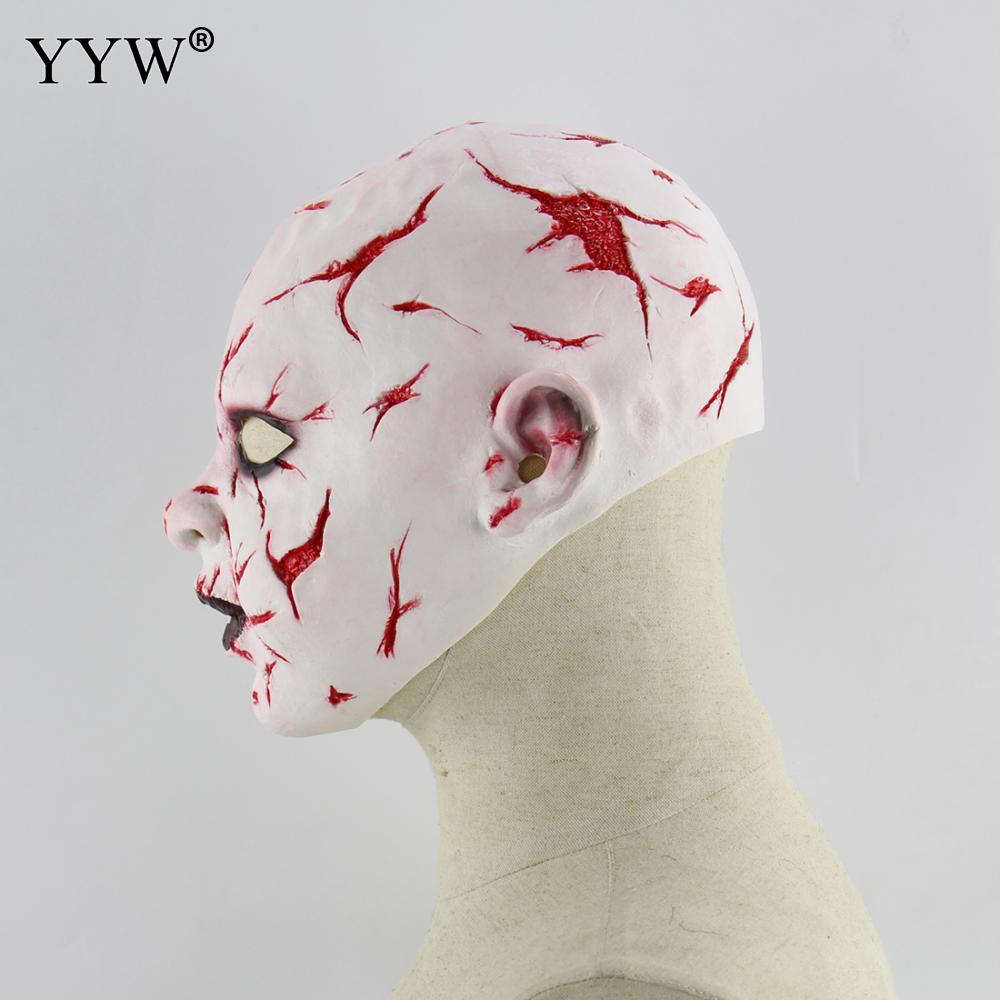 Bloody Face Scary Masque Masquerade Halloween Horror Mask Party Cosplay Masker Zombie Masks Mascaras Latex Maske Terror Masque in Party Masks from Home Garden