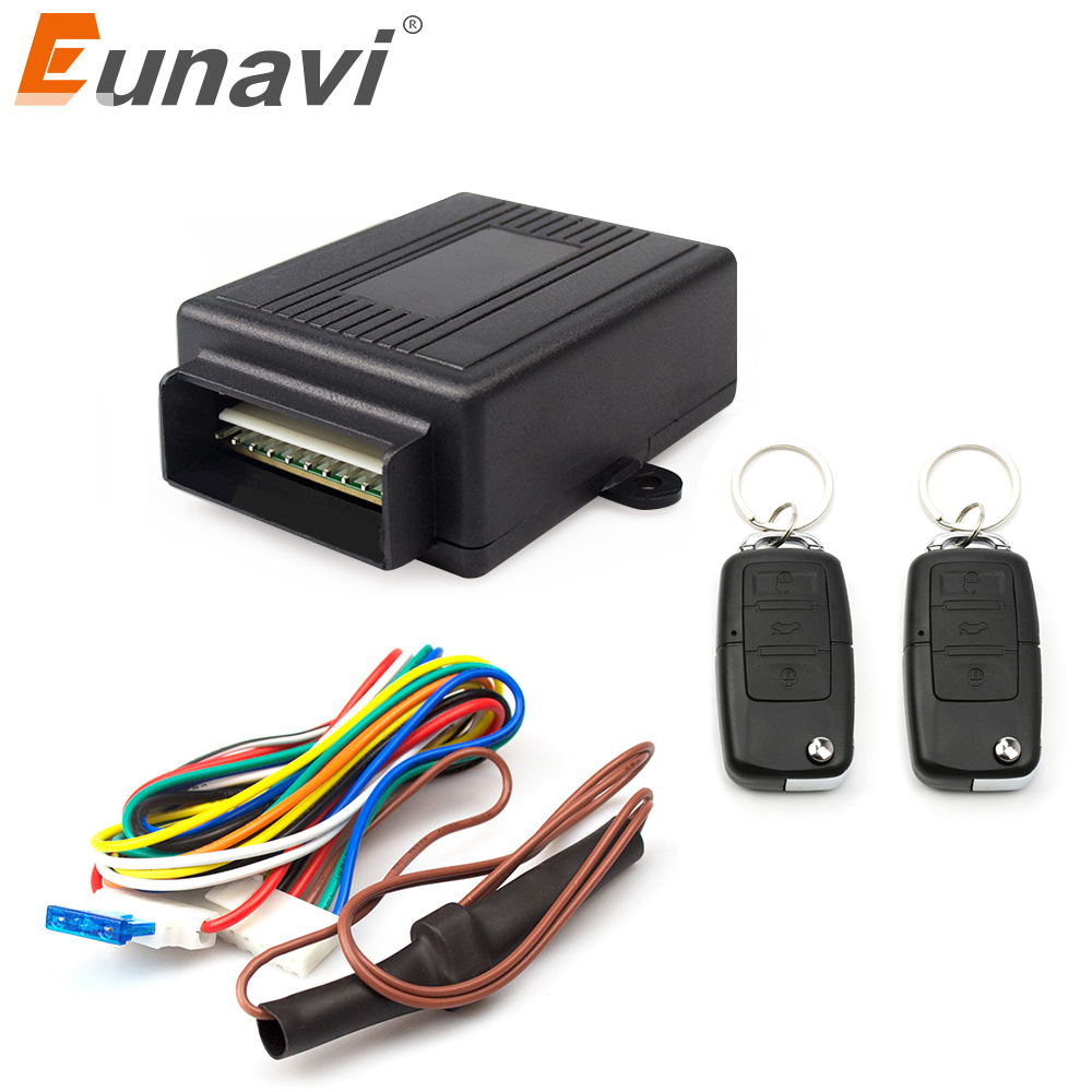Eunavi 402/256-1 12V New Universal Car Auto Remote Central Kit Door Lock Locking Vehicle Keyless Entry System hot selling