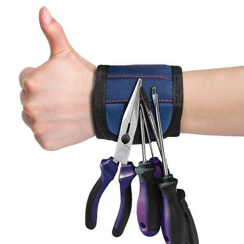Odin&Bosch Polyester Magnetic Wristband Magnetic Bracelet for Holding tool bag Electrician Wrist Tool Belt