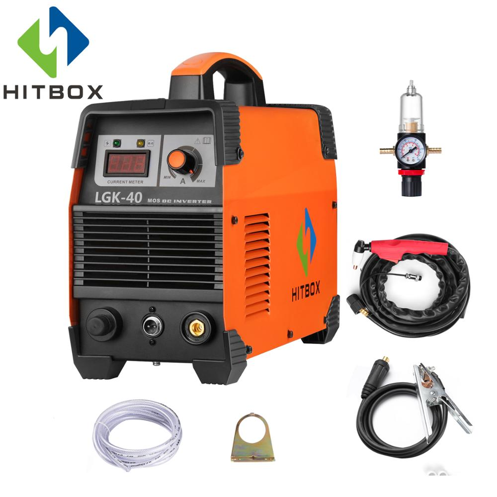 HITBOX Cut40 Plasma Cutter Mosfet Technology Cutting Machine With Accessories Stainless Steel Carbon Steel Aluminum Cutter carbon brushe 7 11 16 5mm adapter cutter machine x4