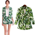 Blazer Women 2016 Floral Elegant Print Casual Suit Jacket Brand Design Coat Chaquetas Mujer