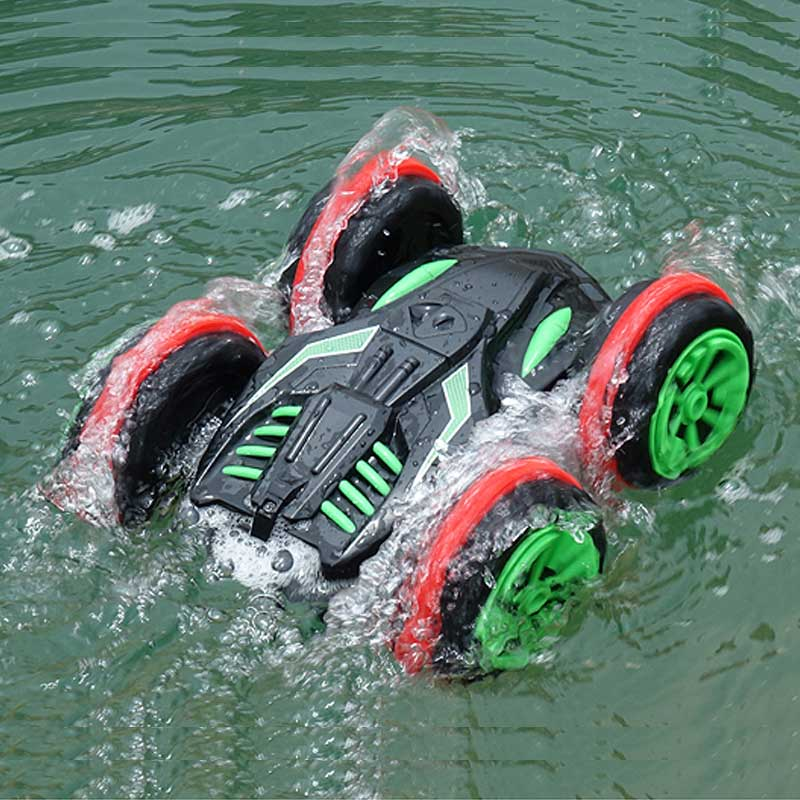 Amphibious Vehicle RC Car Remote Control Toy Stunt Off-road Four-wheel Drive Car Electric Car Rechargeable Toy For Children super climbing remote control car model off road vehicle toy four wheel drive