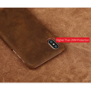 Genuine PULL-UP Leather phone case for iphone X 11 11 Pro 11 Pro Max XS XR XS MAX 8 Plus Cover for Apple 5 5S SE 6 8 7 6s Plus 4