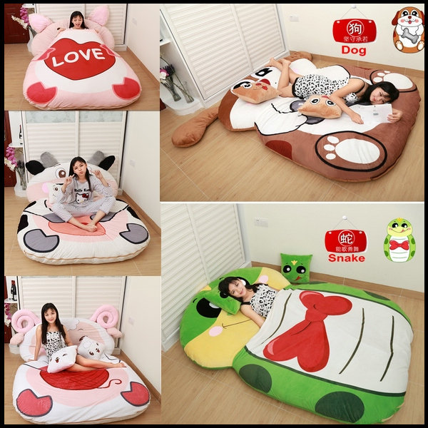 Zodiac Sofa Bed Soft Cartoon Totoro Double Sleeping Bag Pad Filling Stuffed Plush Tatami Mattress Toy Doll In Beds From Furniture On