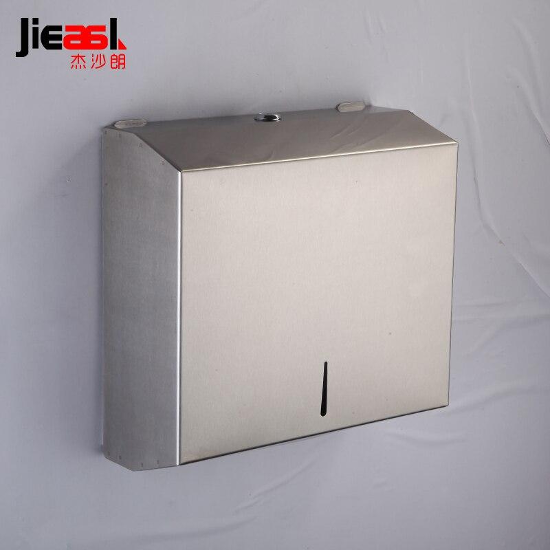 304 distributeur de rouleau de porte-papier d'acier inoxydable hôtel travaille la boîte de distributeur de papier de rouleau de toilette conception verrouillée 5823