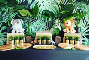 Image 2 - Mehofoto tło do zdjęć z motywem dżungli wiosna tło do budki fotograficznej Studio impreza w stylu Safari tło tkanina winylowa bez szwu 812