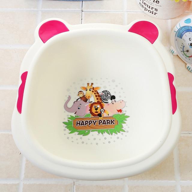 Household Washbasin Baby Bath Basin Cartoon Cute Babies Wash Basin ...