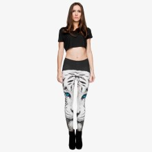 White Tiger 3D Print Leggings