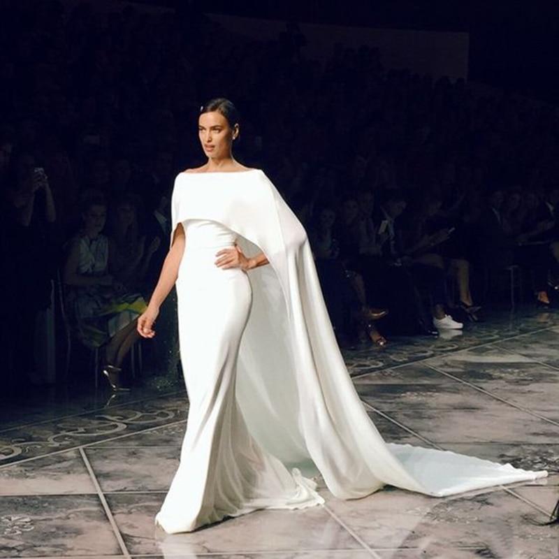 Designer Evening Dresses Sale On White: Fashion White Mermaid Formal Dresses Long Satin Evening