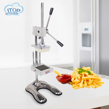 ITOP MH003 Manual Potato Slicer Easy control Vertical Chips Cutter Kitchen Tool with 8mm 10mm 12mm blade
