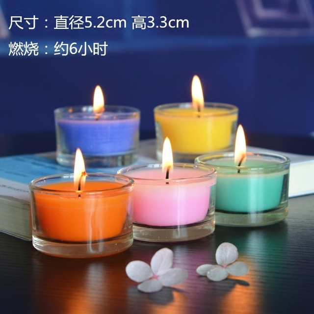 2pcs/lot Aromatherapy Candle Wedding Romantic Scented Candles Party Candles Flameless Wax Candles gift Last about 6hours 1