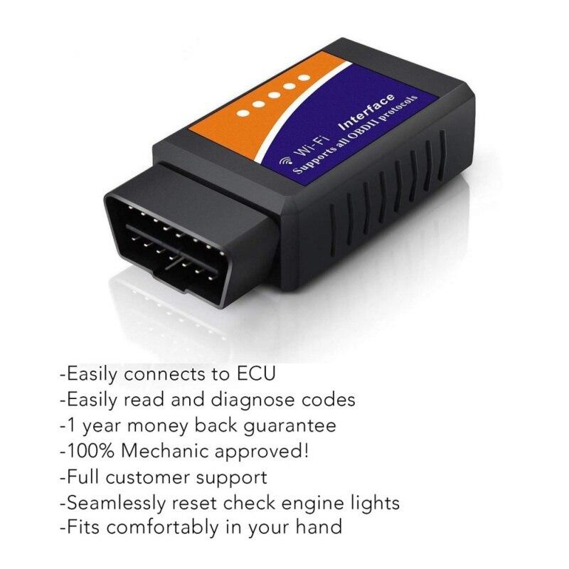 Nuovo Elm327 Wi-Fi OBD2 V1.5 Diagnostico Auto Auto Scanner Con Best Chip Elm 327 Wifi OBD Adatto Per IOS Android /iPhone Finestre