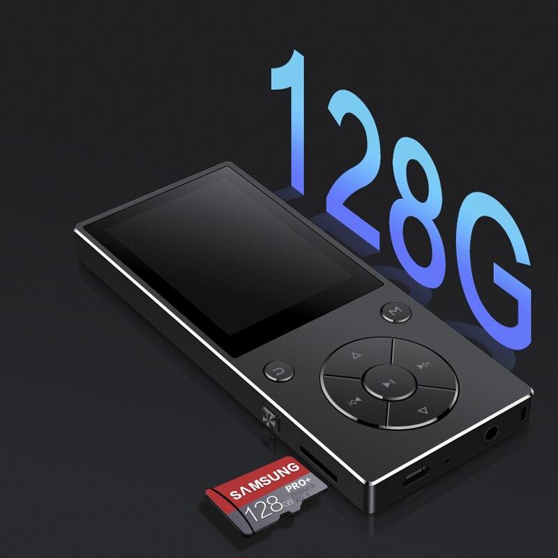 2018 New HIFI musique sans perte MP4player avec Bluetooth 2.4 HD écran haut-parleur intégré 16g MP4 musique lecteur SD carte jusqu'à 128g