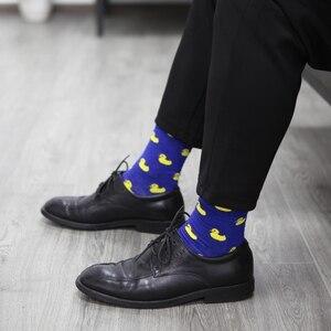 Image 5 - Spiel Up Männer Cartoon Baumwolle Socken Kunst Gemusterten Casual Crew Socken 5 Pack Schuh Größe 6 12