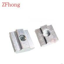 50pcs m3 m4 m5 m6 T Sliding Nut for 2020 Aluminum Profile slot 6 Zinc Coated Plate Aluminum Accessories(China (Mainland))