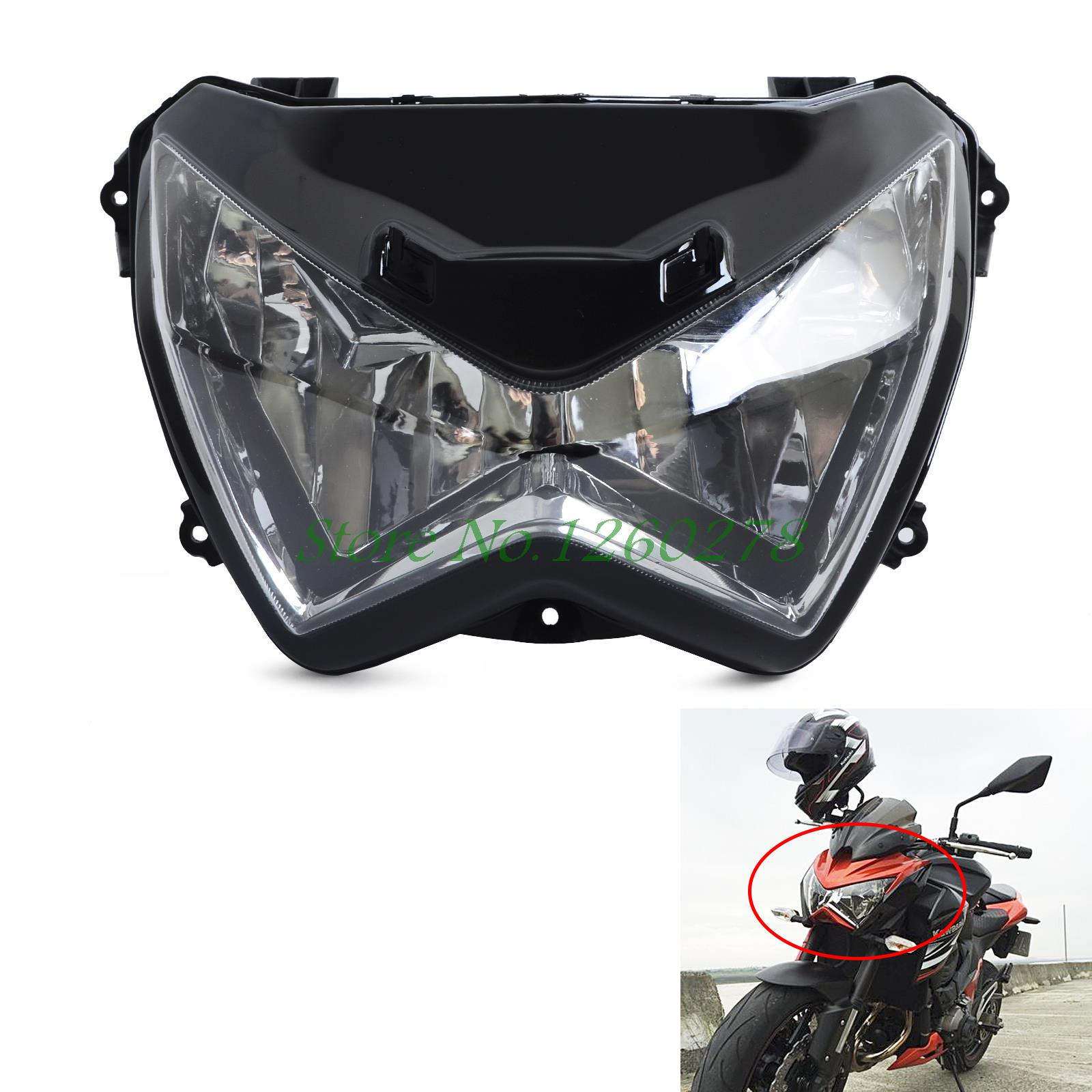 Motocicleta Faro De ensamblaje De Faro delantero para Kawasaki Z800 Z250 2013 -2016 Z300 2015 2016 Faro De La Motocicleta