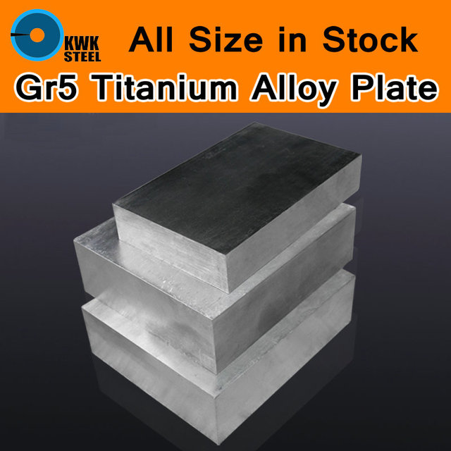 Titanium Alloy Sheet UNS Gr5 TC4 BT6 TAP6400 Titanium Ti Plate Block Board Industry or DIY Material Mould CNC Machine All Size