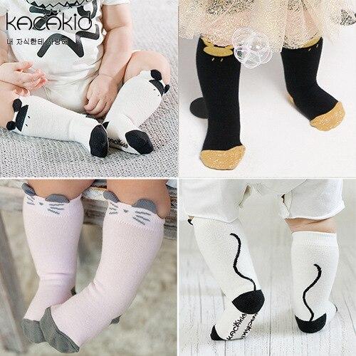 0-4 T Baby Baumwolle Cartoon Maus Kätzchen Socken Kinder Top Qualität Baumwolle Knie Socken Für Jungen Mädchen Kinder Kleidung Zubehör SchöN Und Charmant
