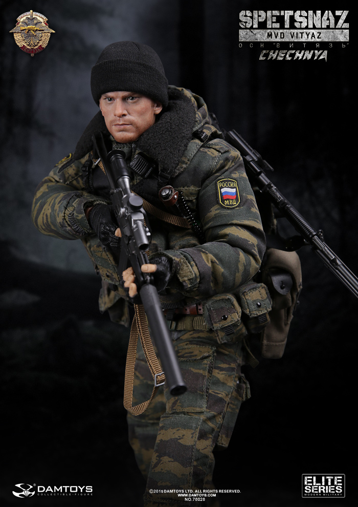 1/6 scale figure doll Russian SPETSNAZ MVD OSN VITYAZ IN CHECHNYA 12 action figures Collectible model toy