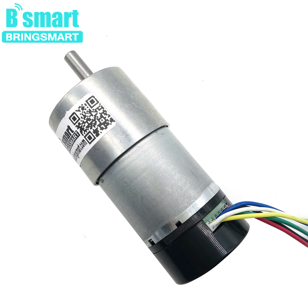 Bringsmart Mini Electric <font><b>Motor</b></font> JGB37-3530GB 24V High Torque <font><b>Encoder</b></font> DC <font><b>Motor</b></font> 1600rpm <font><b>Gear</b></font> <font><b>Motor</b></font> With Encoding Disk <font><b>12v</b></font> Reducer image