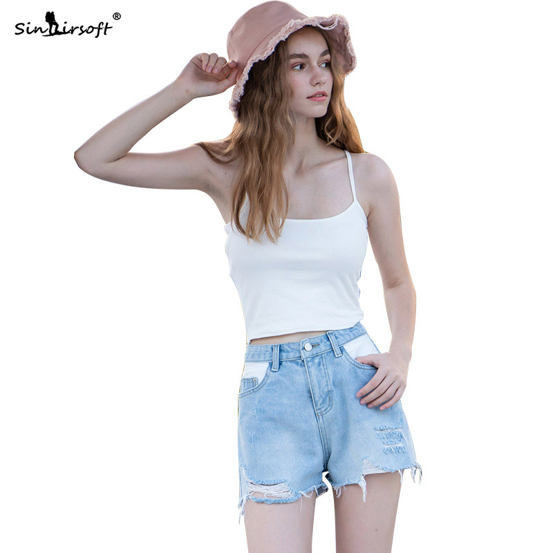High Quality Tear Denim <font><b>Sexy</b></font> <font><b>Hot</b></font> <font><b>Shorts</b></font> Women Fashion Women's Casual Outer Wear <font><b>Cotton</b></font> Loose <font><b>Short</b></font> Feminino Mujer <font><b>Jeans</b></font> <font><b>Shorts</b></font> image