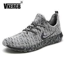 цены VKERGB Fashion Summer Shoes Men Casual Air Mesh Shoes Lightweight Breathable Slip-On Flats  Men Casual Shoes Flats Shoes Gray